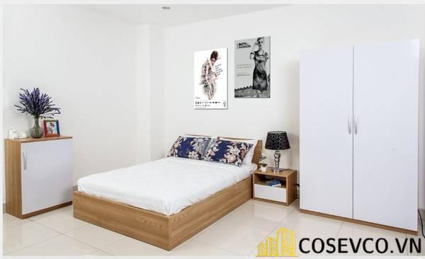 Giường gỗ sồi giá rẻ - Mẫu 15