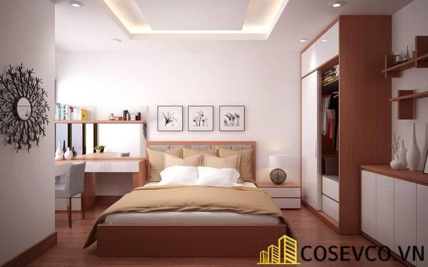 Giường gỗ sồi - Mẫu 16