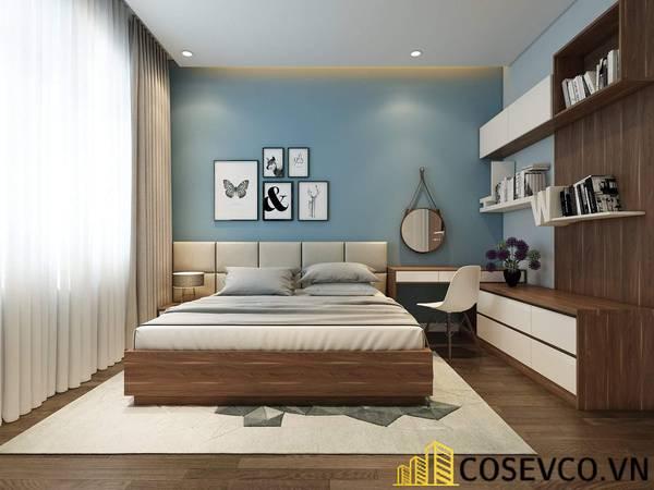 Giường gỗ sồi - Mẫu 17