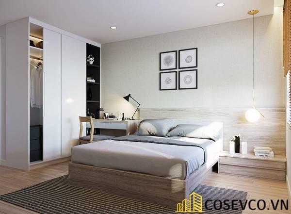 Giường gỗ sồi - Mẫu 19