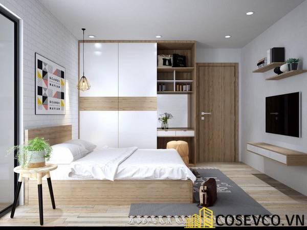 Giường gỗ sồi - Mẫu 20