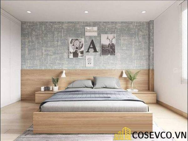 Giường gỗ sồi - Mẫu 21