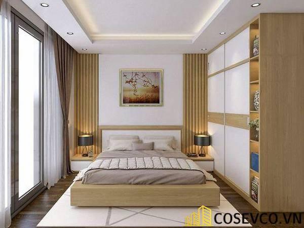 Giường gỗ sồi - Mẫu 23