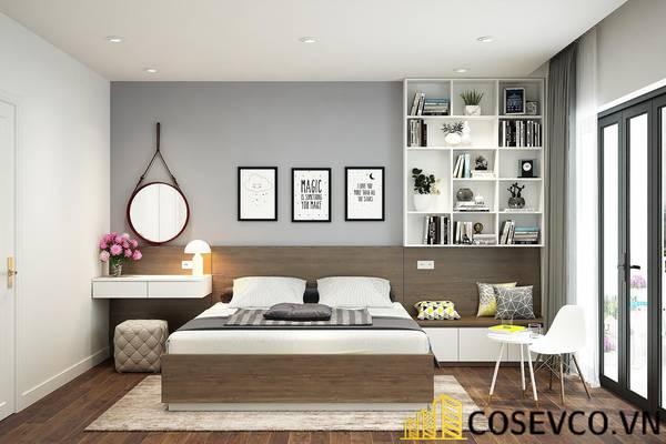Giường gỗ sồi mỹ 1m8 - Mẫu 4
