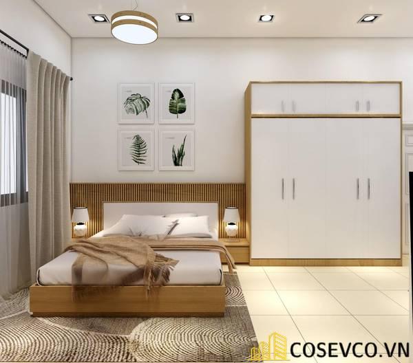 Giường gỗ sồi 1m4 - Mẫu 5
