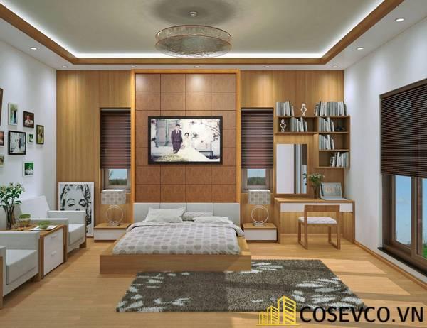 Giường ngủ gỗ sồi kiểu Nhật Bản - Mẫu 6