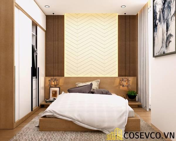 Giường gỗ ghép veneer sồi - Mẫu 8