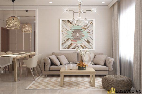 Phòng khách phong cách tối giản là sự giản đơn các đường nét, họa tiết trong thiết kế và trang trí nội thất - M1