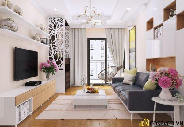Phòng khách chung cư phong cách hiện đại - Mẫu 1