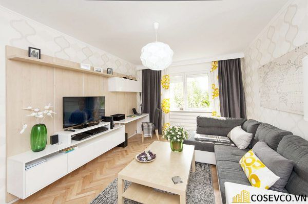 Phòng khách chung cư phong cách hiện đại - Mẫu 2