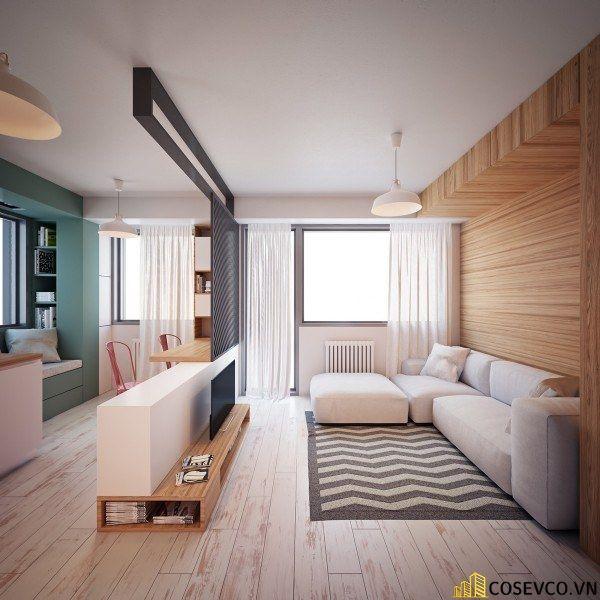Phòng khách phong cách tối giản là sự giản đơn các đường nét, họa tiết trong thiết kế và trang trí nội thất - M2