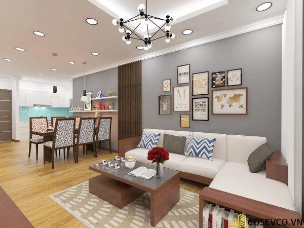 Phòng khách chung cư phong cách hiện đại - Mẫu 3