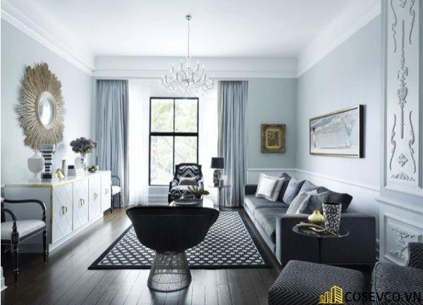 Thiết kế nội thất phòng khách chung cư sang trọng phong cách tân cổ điển - Mẫu 13