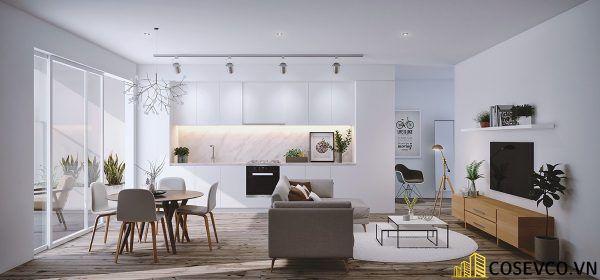 Phòng khách phong cách tối giản là sự giản đơn các đường nét, họa tiết trong thiết kế và trang trí nội thất - M11