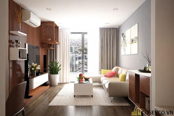 Phòng khách chung cư phong cách hiện đại - Mẫu 12