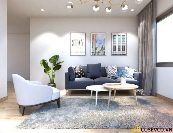 Phòng khách chung cư phong cách hiện đại - Mẫu 13