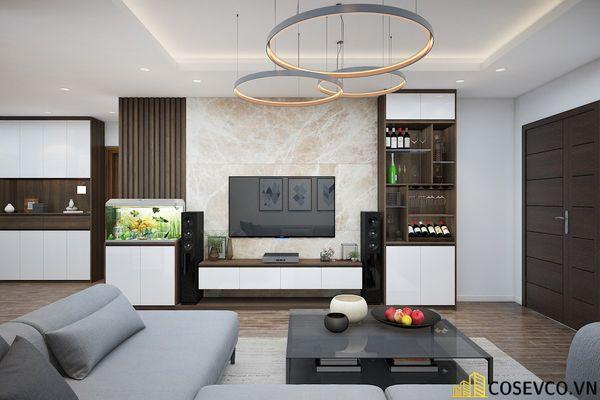 Phòng khách chung cư phong cách hiện đại - Mẫu 14