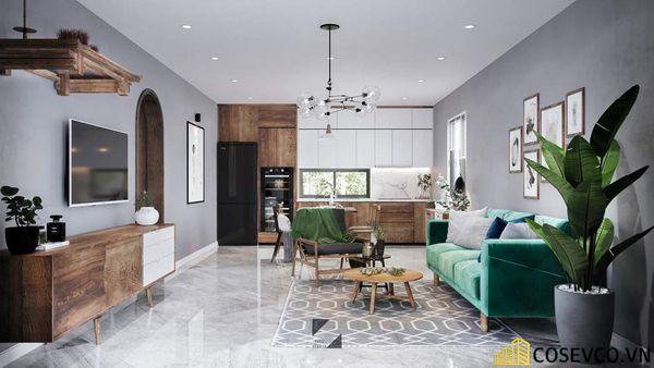 Phòng khách chung cư phong cách hiện đại - Mẫu 16