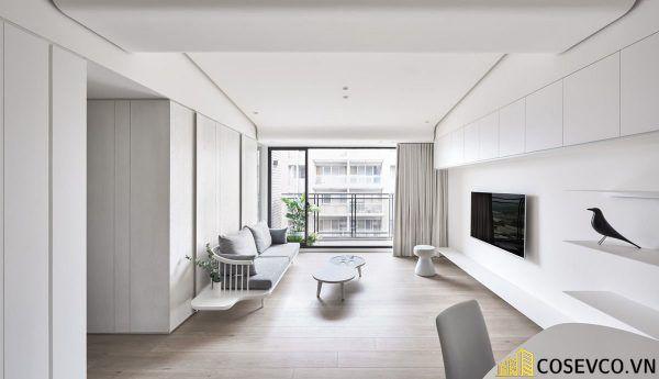 Phòng khách phong cách tối giản là sự giản đơn các đường nét, họa tiết trong thiết kế và trang trí nội thất - M3