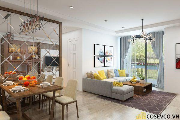 Phòng khách chung cư phong cách hiện đại - Mẫu 4