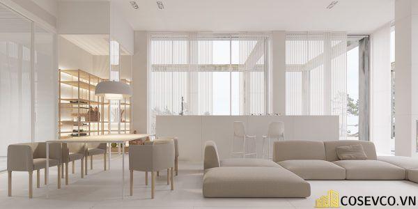 Phòng khách phong cách tối giản là sự giản đơn các đường nét, họa tiết trong thiết kế và trang trí nội thất - M4