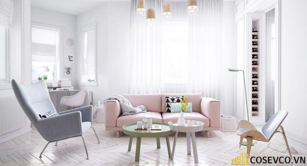 Phòng khách phong cách tối giản là sự giản đơn các đường nét, họa tiết trong thiết kế và trang trí nội thất - M5