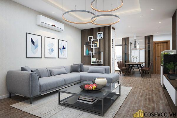 Phòng khách chung cư phong cách hiện đại - Mẫu 6
