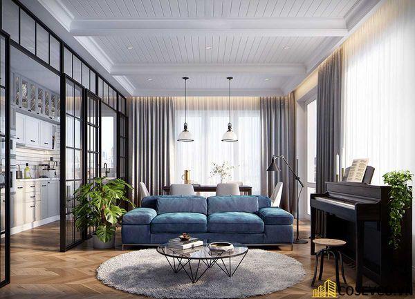 Phòng khách chung cư phong cách hiện đại - Mẫu 7