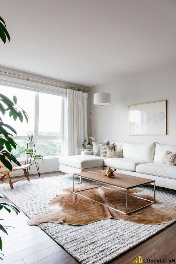 Phòng khách phong cách tối giản là sự giản đơn các đường nét, họa tiết trong thiết kế và trang trí nội thất - M7