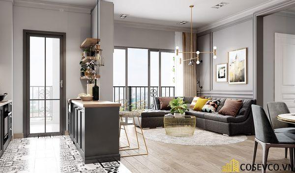 Phòng khách chung cư phong cách hiện đại - Mẫu 8
