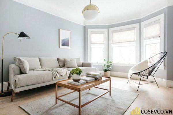 Phòng khách phong cách tối giản là sự giản đơn các đường nét, họa tiết trong thiết kế và trang trí nội thất - M8