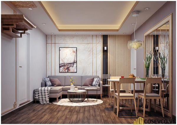 Phòng khách chung cư phong cách hiện đại - Mẫu 10