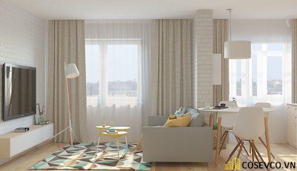 Phòng khách phong cách tối giản là sự giản đơn các đường nét, họa tiết trong thiết kế và trang trí nội thất - M10