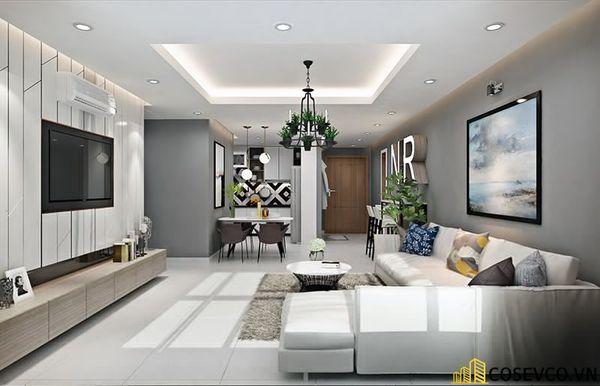 Phòng khách chung cư phong cách hiện đại - Mẫu 11