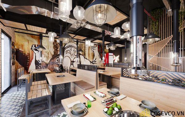 Mẫu thiết kế nhà hàng lẩu nướng bình dân ấn tượng - View 3