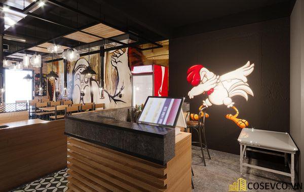 Mẫu thiết kế nhà hàng lẩu nướng bình dân ấn tượng - View 1