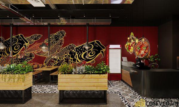 Mẫu thiết kế nhà hàng bình dân lẩu nướng ấn tượng - View 12