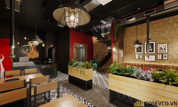 Mẫu thiết kế nhà hàng bình dân lẩu nướng ấn tượng - View 4
