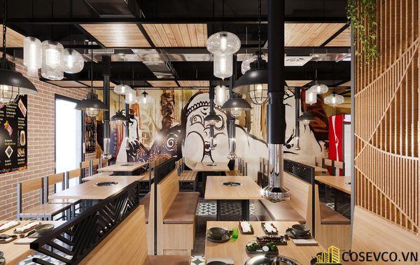 Mẫu thiết kế nhà hàng bình dân lẩu nướng ấn tượng - View 7