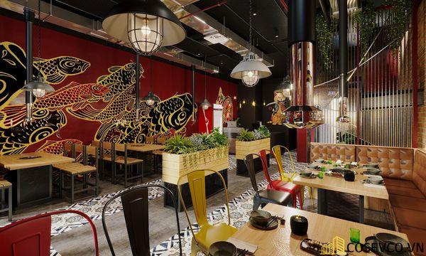 Mẫu thiết kế nhà hàng bình dân lẩu nướng ấn tượng - View 8