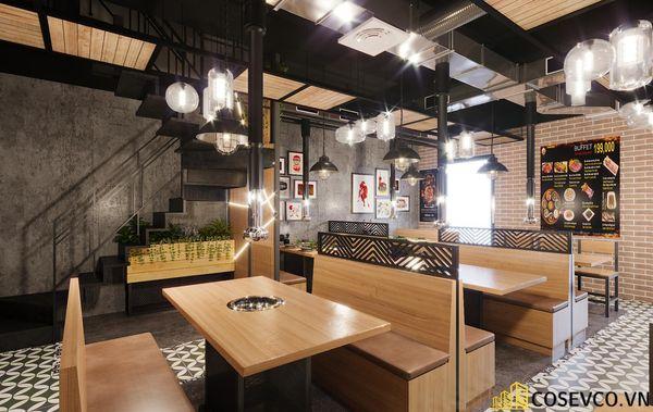 Mẫu thiết kế nhà hàng bình dân lẩu nướng ấn tượng - View 10
