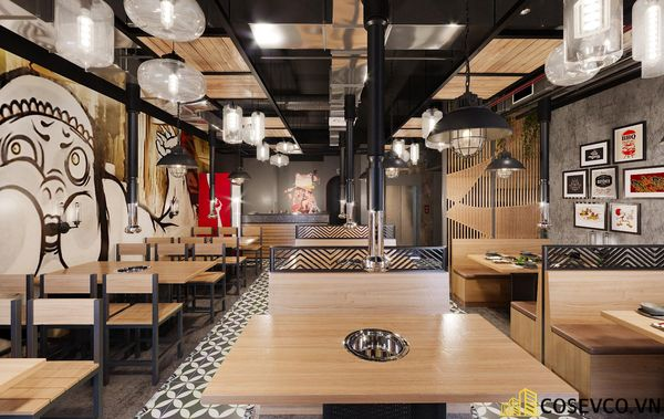 Mẫu thiết kế nhà hàng bình dân lẩu nướng ấn tượng - View 11
