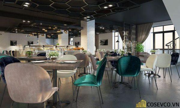 Mẫu thiết kế nhà hàng Buffet ấn tượng, phong cách trẻ trung sang trọng - View 4