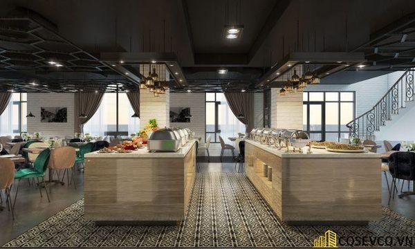 Mẫu thiết kế nhà hàng Buffet ấn tượng, phong cách trẻ trung sang trọng - View 1