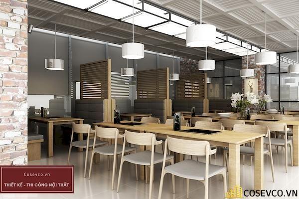 Mẫu thiết kế nhà hàng Buffet sang trọng sao cấp - View 3