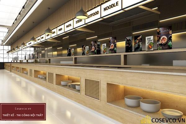 Mẫu thiết kế nhà hàng Buffet sang trọng sao cấp - View 1