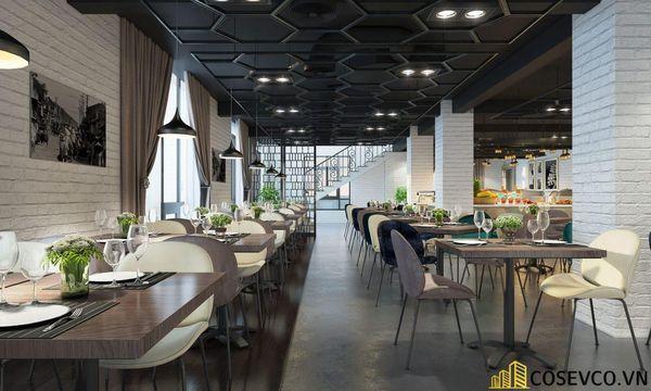 Mẫu thiết kế nhà hàng Buffet ấn tượng, phong cách trẻ trung sang trọng - View 2
