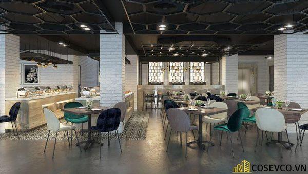 Mẫu thiết kế nhà hàng Buffet ấn tượng, phong cách trẻ trung sang trọng - View 3