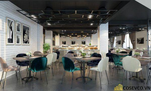 Mẫu thiết kế nhà hàng Buffet ấn tượng, phong cách trẻ trung sang trọng - View 6