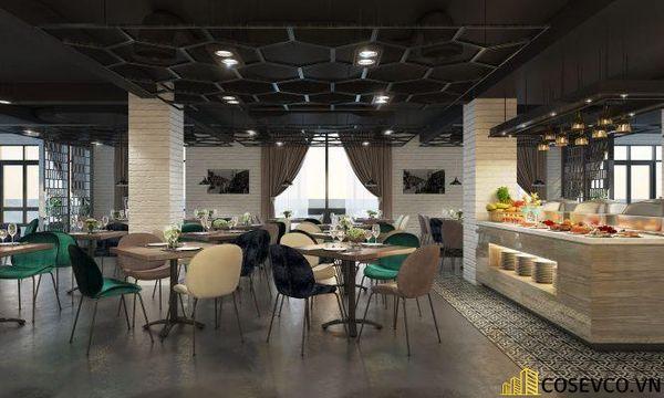 Mẫu nhà hàng Buffet ấn tượng, phong cách trẻ trung sang trọng - View 8